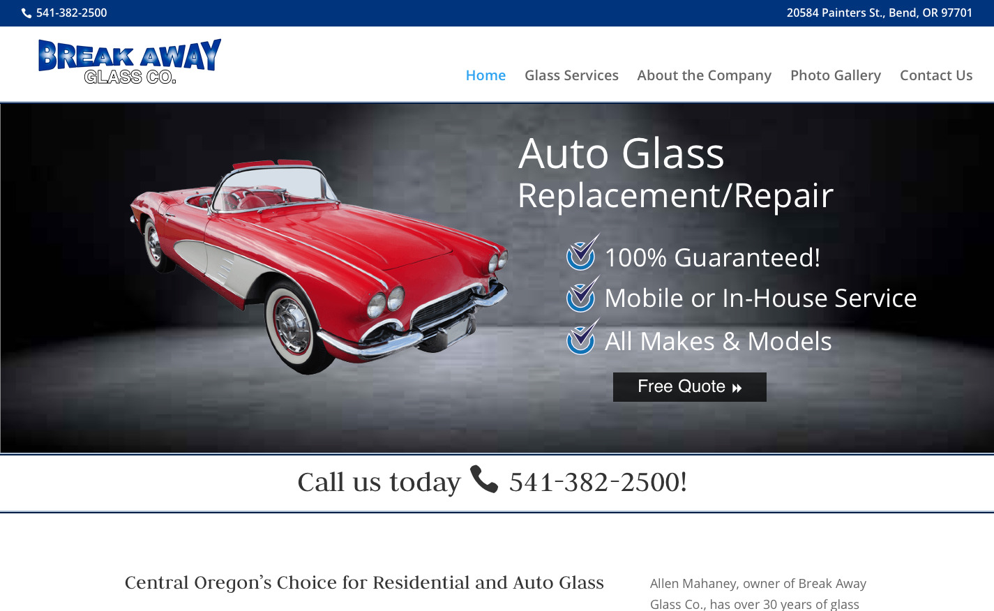 Auto Glass Quote Auto Glass In Bend Or  Glass Repair & Windshields  Break Away